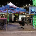 Engineering Innovation's picnic-themed booth at the 2017 Promat trade show.