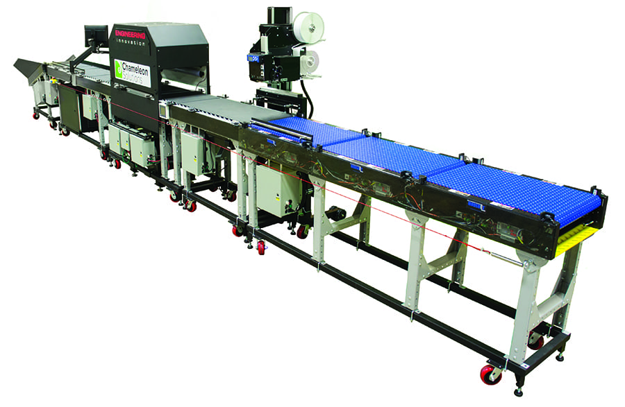 Engineering Innovation's Chameleon parcel processing solution full view.