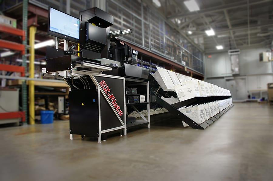 EZ-Flats Premium machine full view in a warehouse.